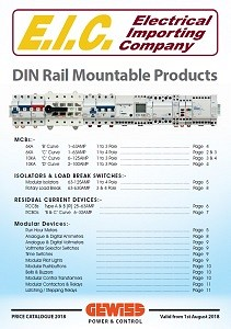 Gewiss - DIN Rail Mountable Products Brochure