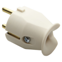 GEWISS 28SPIC, STRAIGHT PLUG 230V 2P+E 10-16A WHITE *** GERMAN/FRENCH STANDARD ***
