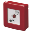 GEWISS 42RV RED EMERGENCY ENCLOSURE, WITH ILLUMINATED PUSHBUTTON, IP55 SURFACE MTG