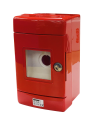 GEWISS 42RV RED EMERGENCY ENCLOSURE, WITH Ø22mm HOLE FOR PILOT DEVICE, IP55 SURFACE MTG