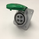 GEWISS IEC309 HP 10° SOCKET FLUSH MTG IP44/54 GREEN 50V 100-300HZ 10H 16AMPS 3P+E