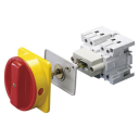 GEWISS 70RT ISOLATOR BASE MOUNTED - RED/YELLOW HANDLE 4P 32AMPS (AC21A)