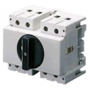 GEWISS 70RT ISOLATOR DIN RAIL MOUNT - BLACK HANDLE 3P 32AMPS (AC21A) 4M