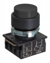 GHISALBA 22mm IP66 EXT PUSHBUTTON BLACK