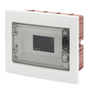 GEWISS 40CDKI DISTRIBUTION BOARD IP40 FLUSH MTG 8 WAY - WITH E&N BARS *** WHILE STOCKS LAST ***