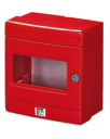GEWISS 42RV RED EMERGENCY ENCLOSURE, WITH MOUTNING PLATE, IP55 SURFACE MTG
