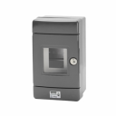 GEWISS 42RV GREY EMERGENCY ENCLOSURE, FITTED WITH DIN RAIL 4MODS, IP55 SURFACE MTG