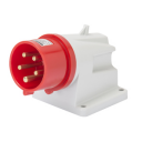 GEWISS IEC309 90° INLET SURFACE MTG IP44 RED 415V 6H 16AMPS 3P+N+E