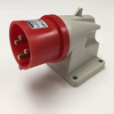 GEWISS IEC309 90° INLET SURFACE MTG IP44 RED 415V 6H 32AMPS 3P+E