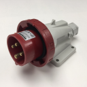 GEWISS IEC309 90° INLET SURFACE MTG IP67 RED 415V 6H 16AMPS 3P+E
