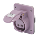 GEWISS IEC309 BTS 10° SOCKET FLUSH MTG IP44 16AMPS VIOLET 20-25VAC 50-60Hz 2P (no H)