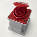GEWISS IEC309 10° SOCKET SURFACE MTG IP44 RED 415V 6H 16AMPS 3P+E