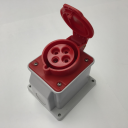 GEWISS IEC309 10° SOCKET SURFACE MTG IP44 RED 415V 6H 32AMPS 3P+E