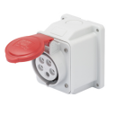 GEWISS IEC309 10° SOCKET SURFACE MTG IP44 RED 415V 6H 32AMPS 3P+N+E