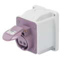 GEWISS IEC309 BTS 10° SOCKET SURFACE MTG IP44 32AMPS VIOLET 20-25VAC 50-60Hz 2P (no H)