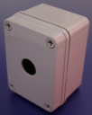 22mm PUSHBUTTON ENCLOSURE 1 HOLE SHALLOW 110x80x70mm DEEP IP67
