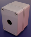 22mm PUSHBUTTON ENCLOSURE 1 HOLE DEEP 110x80x85mm DEEP IP67