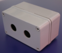 22mm PUSHBUTTON ENCLOSURE 2 HOLE DEEP 130x80x85mm DEEP IP67