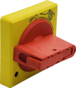 GHISALBA ROTARY DOOR INTERLOCK HANDLE YELLOW/RED 45mm GH3R