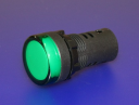 22mm INDICATING LIGHT GREEN, 130VAC/DC LED, SCREW TERMINALS IP66
