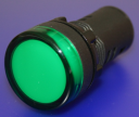 22mm INDICATING LIGHT GREEN, 12VAC/DC LED, SCREW TERMINALS IP66