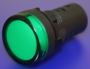 22mm INDICATING LIGHT GREEN, 230VAC LED, SCREW TERMINALS IP66