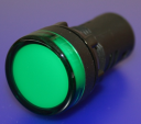 22mm INDICATING LIGHT GREEN, 24VAC/DC LED, SCREW TERMINALS IP66