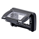 GEWISS COMBI-IN WATERTIGHT PLATE BLACK IP55 3GANG, FOR FLUSH MTG RECT BOX