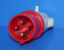 GEWISS IEC309 STR PLUG IP44 RED 415V 6H 16AMPS 3P+E (while stocks last - replaced by GW60008H)