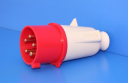 GEWISS IEC309 STR PLUG IP44 RED 415V 6H 32AMPS 3P+N+E (while stocks last - replaced by GW60020H)