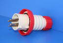 GEWISS IEC309 FAST STR PLUG IP67 RED 415V 6H 16AMPS 3P+E (while stocks last - replaced by GW60030FH)