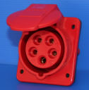 GEWISS IEC309 10° SOCKET FLUSH MTG IP44 RED 415V 6H 16AMPS 3P+N+E (while stocks last - replaced by GW62210H)