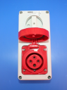 GEWISS IEC309 55IB SWSKT VERT IP55 RED 415V 6H 16AMPS 3P+E W/BASE (while stocks last - replaced by GW66208N)
