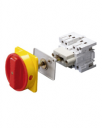 GEWISS 70RT ISOLATOR BASE MOUNTED - RED/YELLOW HANDLE 3P 16AMPS (AC21A)