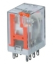 RELAY PLUG-IN DPDT 5A WITH LED & TEST BTN 24VAC (BASE PYF08A-E)
