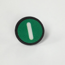 TER CIRCULAR DISK GREEN - WITH START SYMBOL, FOR CHARLIE & ALPHA SOLO BUTTON