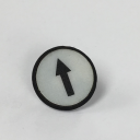 TER CIRCULAR DISK WHITE - 1-SPEED ARROW, FOR CHARLIE & ALPHA SOLO BUTTON