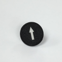 TER CIRCULAR DISK BLACK - 1-SPEED ARROW, FOR CHARLIE & ALPHA SOLO BUTTON