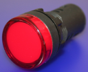 22mm INDICATING LIGHT RED, 230VAC LED, SCREW TERMINALS IP66