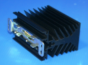 CELDUC HEATSINK - 2.2°C/W 45W x 73H x 80D, DIN OR SCREW MOUNT FOR SC/SO/SU
