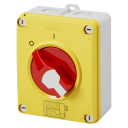 GEWISS 70RT HP ISOLATOR IN PLASTIC ENCL IP66/67/69 - RED KNOB 25A (AC23A) 2P 125x150x75.5mm