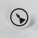 TER MIKE/VICTOR DISC INSERT - WHITE WITH DOUBLE BLACK ARROW