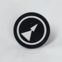 TER MIKE/VICTOR DISC INSERT - BLACK WITH DOUBLE WHITE ARROW