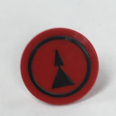 TER MIKE/VICTOR DISC INSERT - RED WITH DOUBLE BLACK ARROW