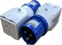 GEWISS ADAPTOR FROM 309 SERIES PLUG 16A 2P+E TO 15A 2P+E FLAT PIN SOCKET FOR TEMPORARY USE ONLY