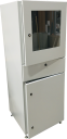 CVS BASIC PC CABINET WITH CLEAR PANEL IN TOP DOOR, INCL ACCESSORIES