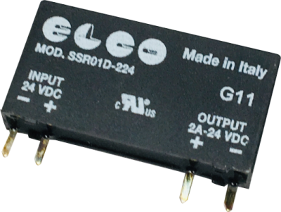 elco solid state relay, ultra slim, pcb mount, 24vdc 2a mosfetpart no ssr01d 224